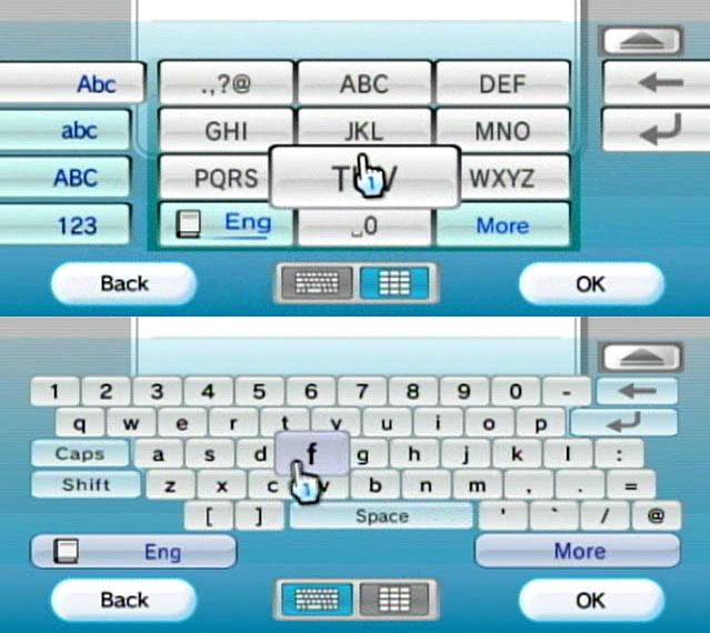 Nintendo Wii interface